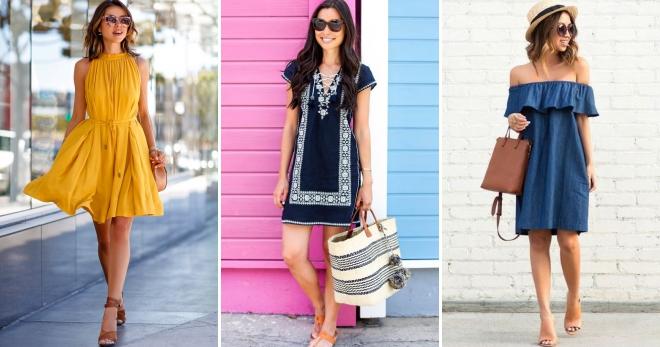 Модные летние повседневные платья – короткие, длинные, в пол, миди ... 1ae6a0e45aa