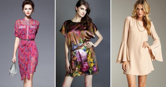 Платья из шелка – 40 фото модных моделей для девушек и женщин