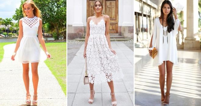 Белое летнее платье – 38 фото стильных и красивых моделей для любого случая