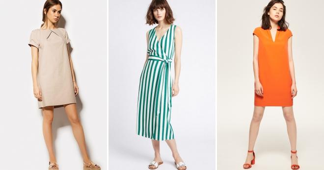 197ad073ca7 Прямое летнее платье – 38 фото модных моделей любой длины