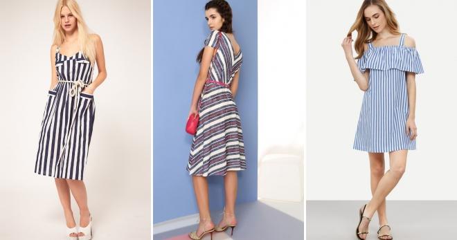 0932d7d5f Стильные летние платья в полоску – короткое, длинное, трикотажное ...