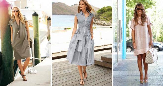 Льняные платья – 30 фото моделей для летнего сезона