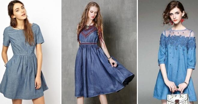 4097f83b6c1 Летние джинсовые платья – модные фасоны для девушек и женщин
