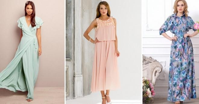 5851ad41b92741e Красивые длинные летние платья – фасоны, повседневные, на каждый ...