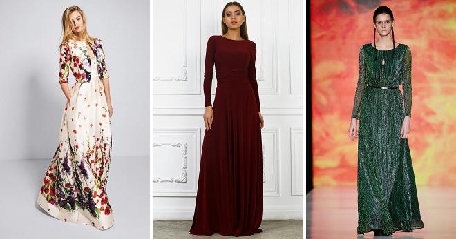 Длинные платья 2018 – повседневные и вечерние модели на любой вкус