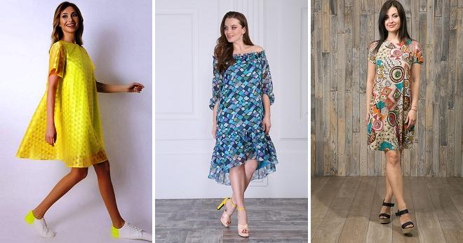 aabd08cab17 Свободные летние платья – 32 фото легких моделей для жаркой погоды