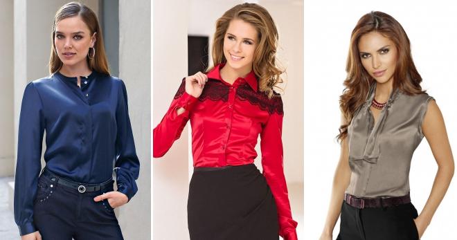 Блузки из шелка – модели с коротким и длинным рукавом на любой вкус a5cd8a480ddea