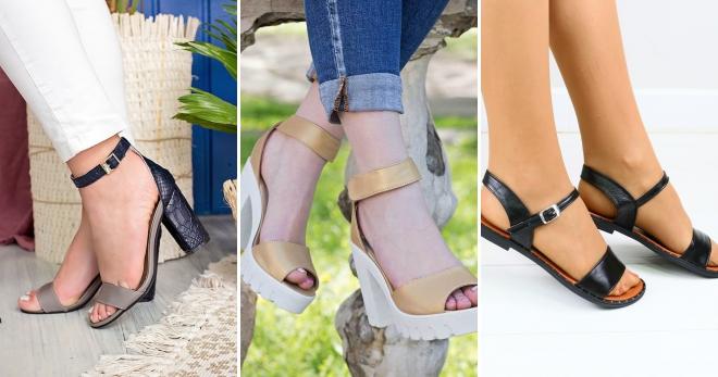 Женские кожаные босоножки – 52 фото модных моделей для любого случая