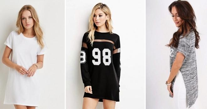 Женские длинные футболки – 48 фото модных моделей для любого случая