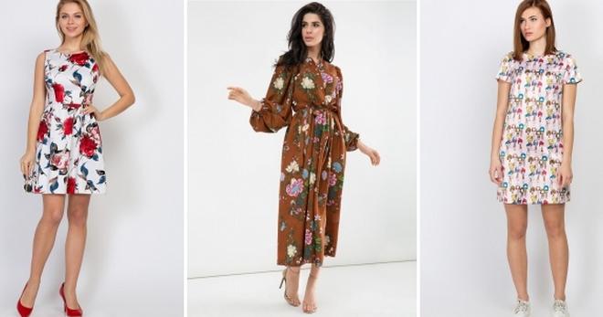 b13052ef7129ee0 Модное ситцевое платье – летнее, модели, фасоны, с открытыми плечами ...
