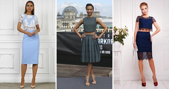 00fb512e90dc243 Костюм юбка и топ – модный и элегантный наряд на каждый день и для особых  случаев