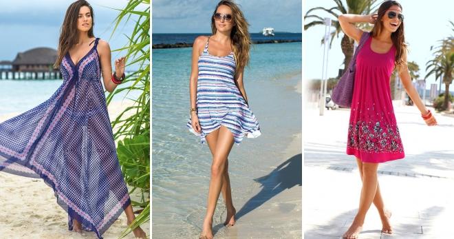 241cf1bc6 Модный пляжный сарафан – длинный, короткий, асимметричный, с ...