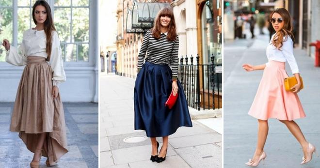 Широкая юбка – удобный и стильный предмет гардероба современной женщины