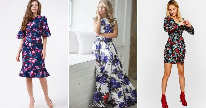 Платье с цветочным принтом – 58 фото самых модных моделей этого сезона
