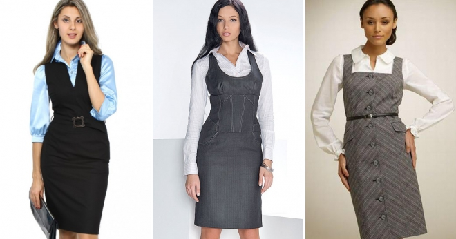 Офисный сарафан – с чем носить и как создать стильный образ в рамках дресс-кода?