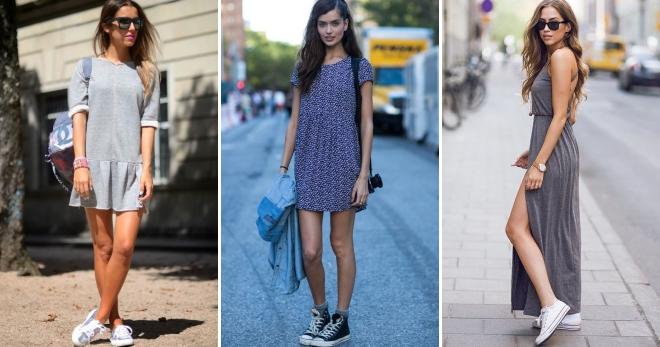 Кеды под платье – 42 фото самых модных сочетаний