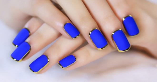 Синий маникюр 2018 – модные тенденции на короткие и длинные ногти