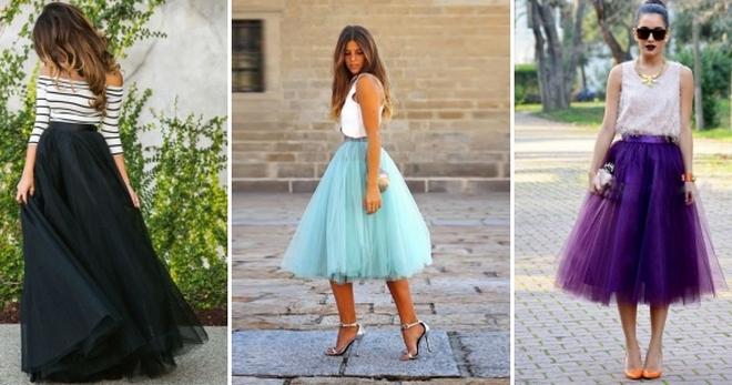 Многослойная юбка – модная модель для торжества и повседневной носки