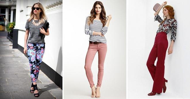 Цветные брюки – правила подбора верха, обуви и аксессуаров