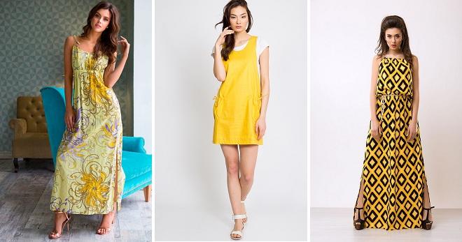 Желтый сарафан – советы стилистов по созданию модного образа