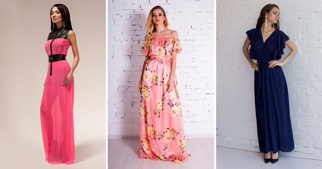 36eca382771 Шифоновое платье в пол – как создать самый роскошный образ