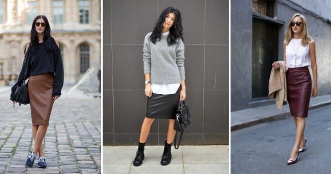 С чем носить кожаную юбку – 48 фото модных образов и сочетаний для девушек и женщин