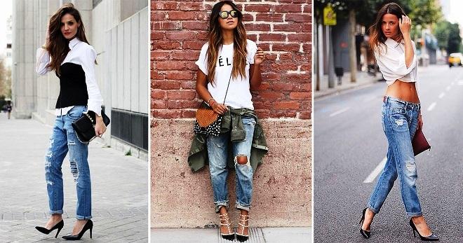 С чем носить джинсы бойфренды – 36 фото модных образов на все случаи жизни