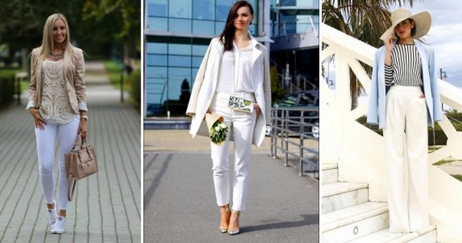 Белые брюки – модный предмет женского гардероба для самых стильных образов