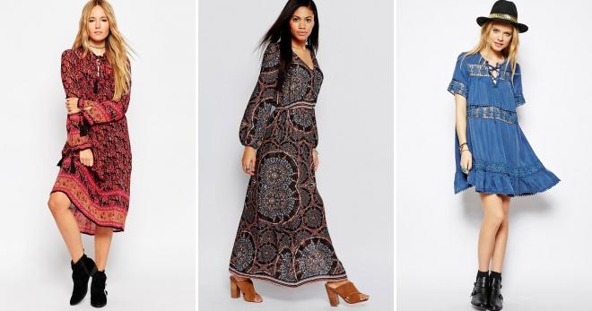 Платье бохо – 38 фото модных моделей для любительниц комфортной одежды