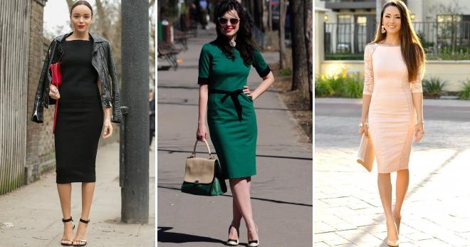 979e784d07086f5 С чем носить платье-футляр – 52 фото самых стильных повседневных, деловых и  вечерних образов