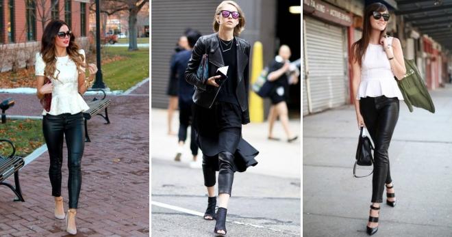 Кожаные брюки – правила создания стильного образа для девушек и женщин
