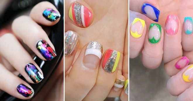 Разноцветный маникюр – 58 фото-идей для создания модного дизайна ногтей