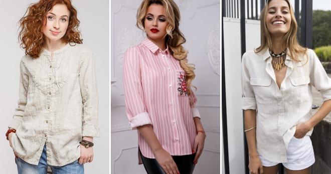 Льняная рубашка – 54 фото модных женских моделей для любого сезона