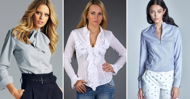 Женские блузки – 46 модных образов для любой погоды