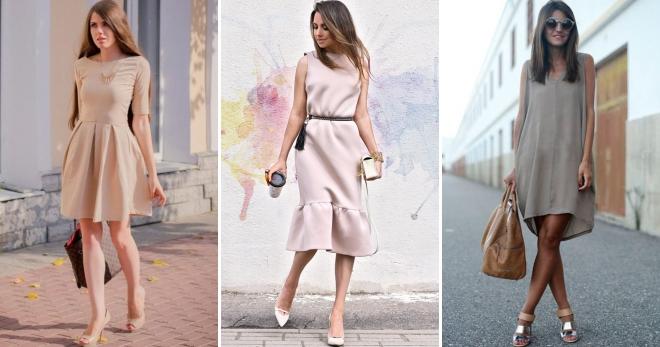 С чем носить бежевое платье – 54 идеи для создания модного образа