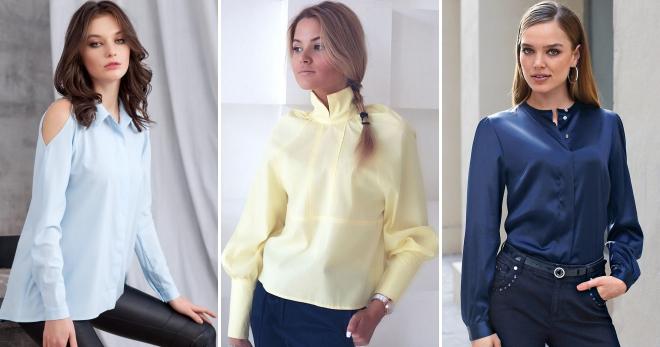 Блузки с длинными рукавом – 48 фото модных моделей и образов на все случаи жизни