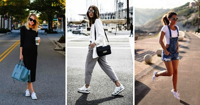 С чем носить белые кроссовки – самые модные сочетания для любого времени года