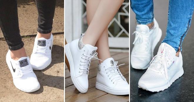 Женские белые кроссовки – 66 фото лучших моделей от известных брендов
