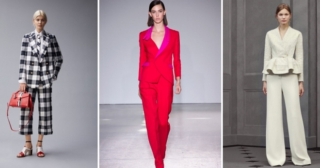 6641ad7fd277 Стильные женские костюмы – 44 фото модных моделей на все случаи жизни