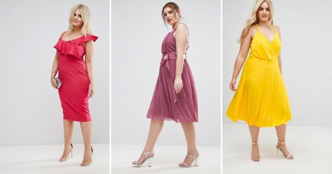 13a16cd6adcd754 Стильные платья для полных женщин – 52 фото модных моделей и образов на все  случаи жизни