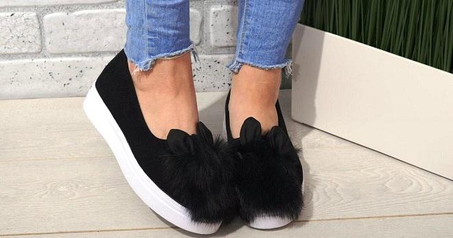 Черные слипоны – удобная и стильная обувь для городских модниц