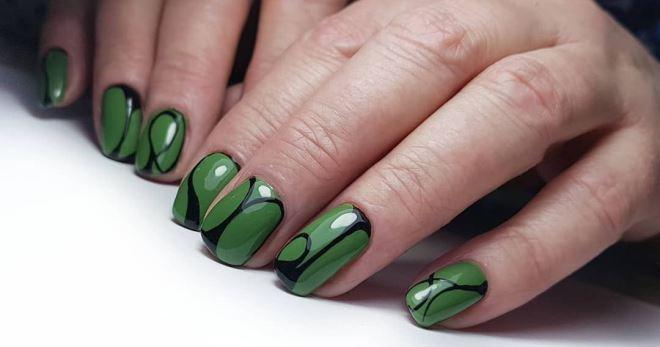 Изумрудные Ногти Дизайн Фото