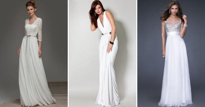 Белое платье в пол – модный и женственный наряд на каждый день и для особых случаев