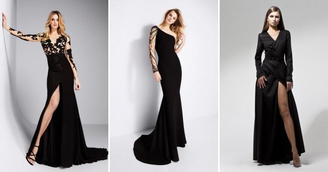 Длинное черное платье – 48 фото красивых моделей на все случаи жизни