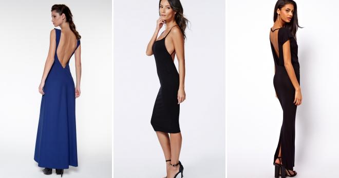 Платье с открытой спиной – 46 фото красивых моделей для любого сезона и события