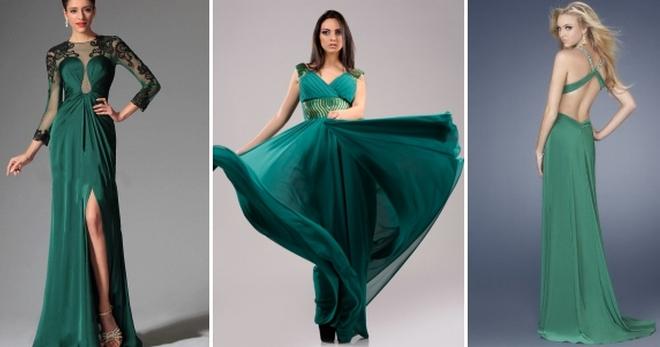 262e71a6028 Стильное зеленое платье в пол – повседневные и вечерние фасоны ...