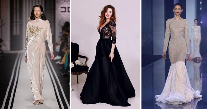 Вечерние платья с длинным рукавом – 58 фото самых модных моделей для выхода в свет