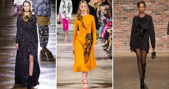 Осенние платья – 40 фото модных моделей на каждый день и для особых случаев
