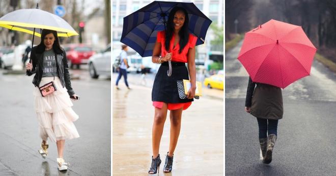 Женские зонты – как выбрать самую стильную модель?