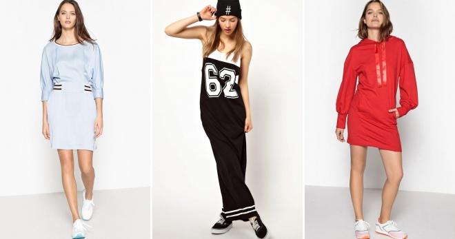 Спортивное платье – стильный наряд на каждый день для городских модниц